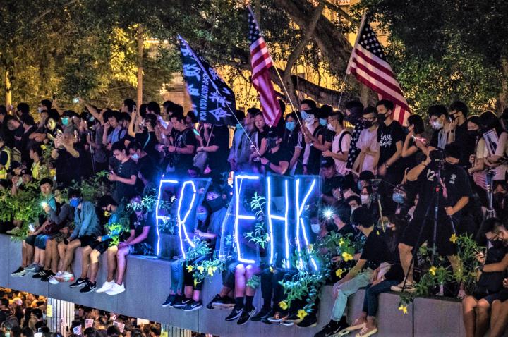 香港人權法造勢大會,示威者爭取香港民主自由。(圖:Studio Incendo)