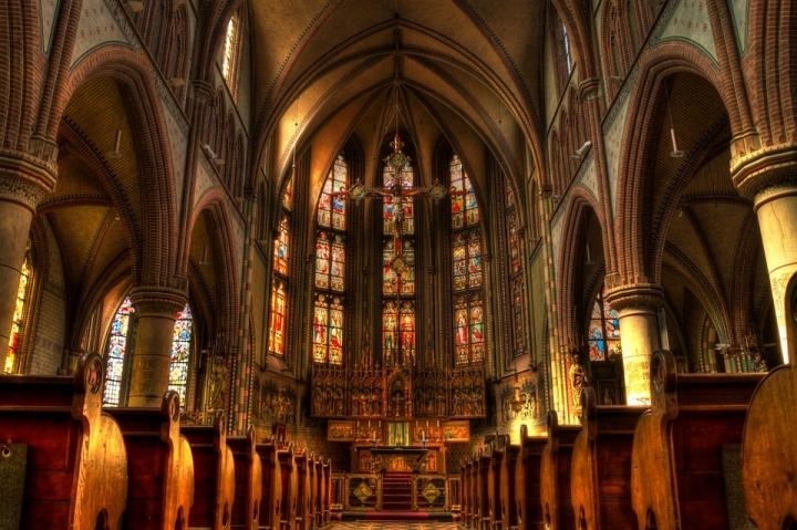 教堂擬定重建模樣。(圖:Pixabay)