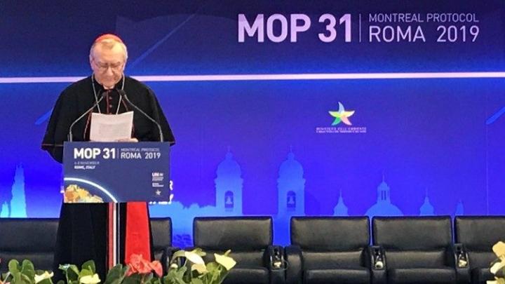 羅馬召開的《蒙特利爾議定書》締約方第31次會議。(圖:vatican news)