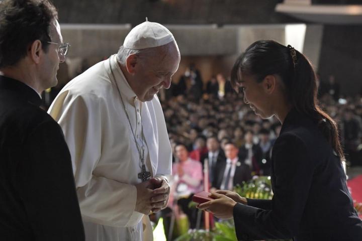 教宗方濟各訪問日本。(圖:Vatican News/Facebook)