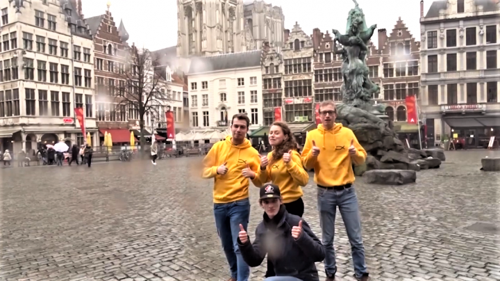 比利時學生在影片呼籲眾人為國家祈禱。(圖:國際福音學生團契視頻擷圖)