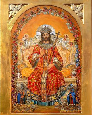 基督坐著為王。(圖:教聲)