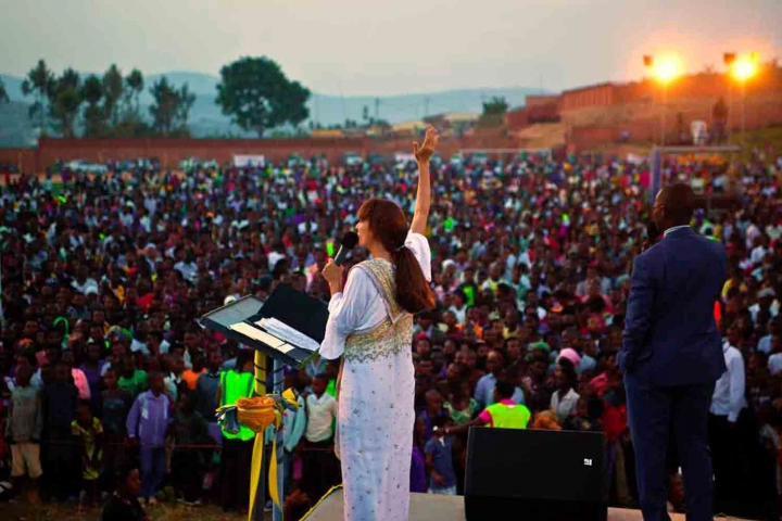 「一上帝一天一非洲」2017年活動。(圖:One God - One Day - One Africa facebook)