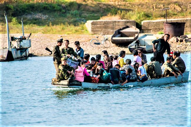 鴨綠江是北韓人偷渡熱點。(圖:網絡圖片)