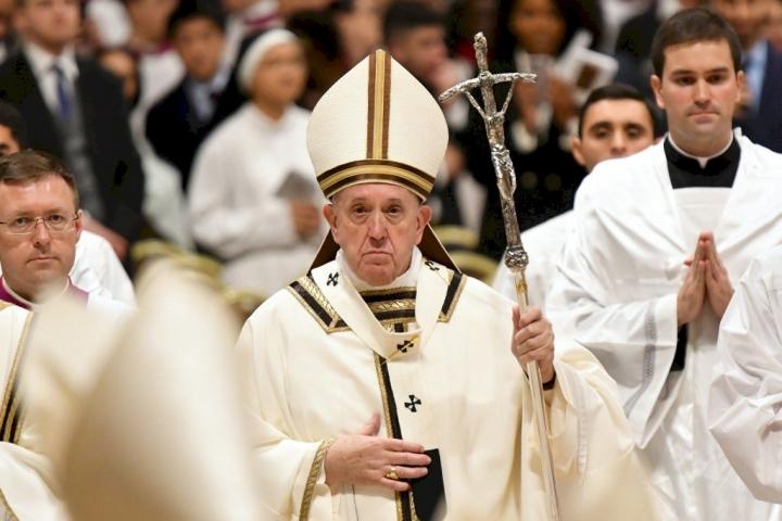 教宗在周日三鐘經祈禱儀式後表示,為感染武漢肺炎者、中國社會禱告。(圖:網絡圖片)