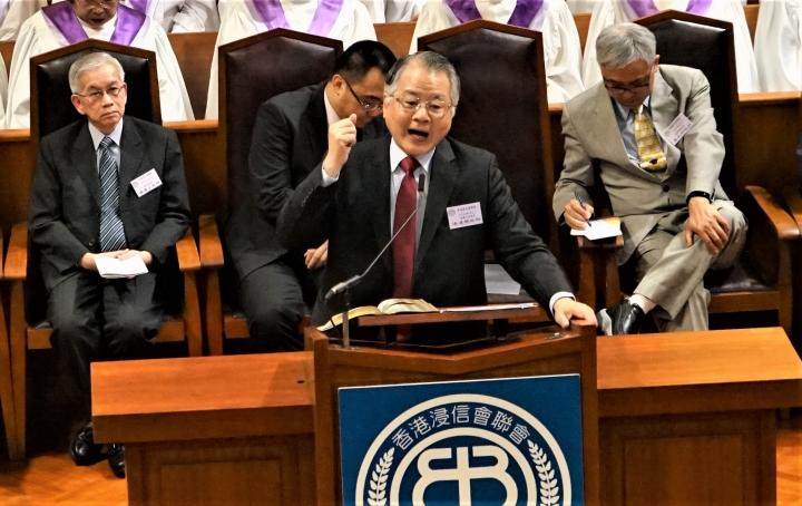 去年浸聯會培靈大會,連達傑牧師主講。(圖:基督日報)