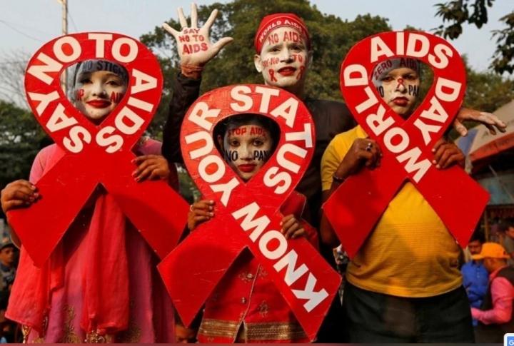 去年世界愛滋病日美國訂計劃2030年消滅愛滋新感染。(圖:路透社)