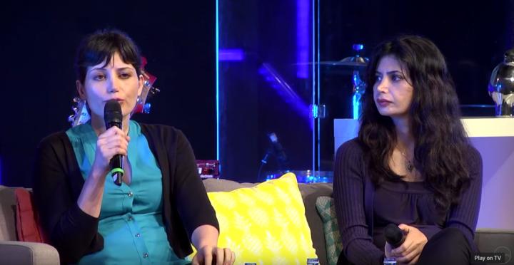 伊朗基督徒婦女瑪麗亞姆·羅斯坦普爾(Maryam Rostampour)、馬齊耶·阿米里扎德(Marziyeh Amirizadeh)因信仰受牢獄之苦,但卻從來沒有放棄信仰。恢復自由之後,她們分享自己的經歷。(YouTube視頻截圖/Calvary Church)