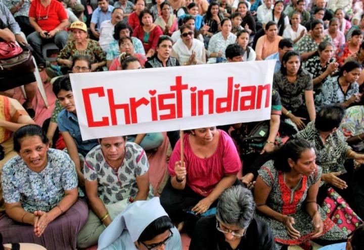 印度基督徒示威要求政府保護。(圖:AsiaNews)