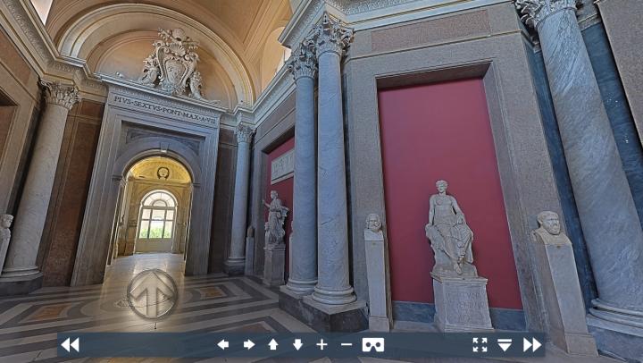 梵蒂岡虛擬博物館。(梵蒂岡博物館官網)