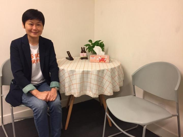 Nice Talk輔導中心資深輔導員黃雪麗姑娘。(圖:黃雪麗提供)