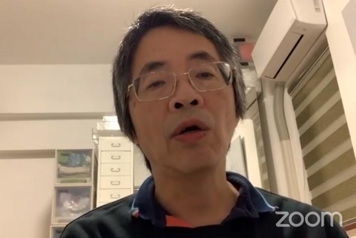劉進圖認為,香港自去年社會運動及今次的新冠疫情,神要人靈性甦醒。(圖:使命公民臉書視頻擷圖)