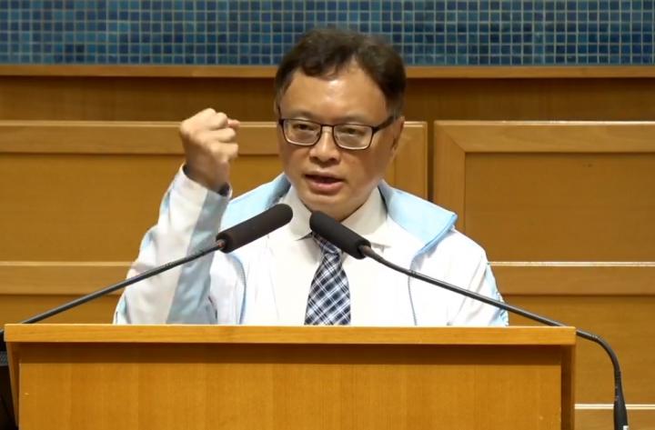 黃福光教授。(圖:浸信會神學院臉書視頻擷圖)