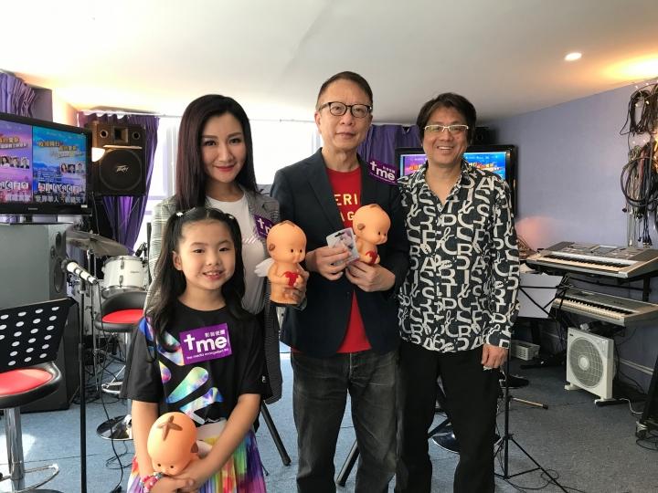 左起:全鈴及女兒張琪朗、葉家寶及音樂總監鄧志和。(圖:影音使團提供)