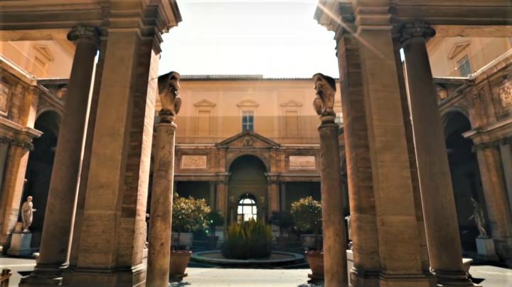 梵蒂岡博物館。(圖:視頻擷圖)