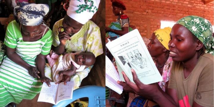 英國威克理夫今年2月國際母語日參觀乍得學前班和成人識字班。(圖:英國威克理夫Twitter)