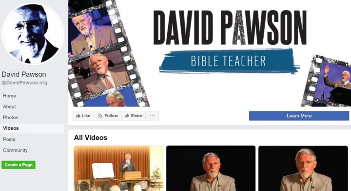 大衛.鮑森牧師生前在臉書上載講道視頻。(圖:大衛.鮑森臉書擷圖)