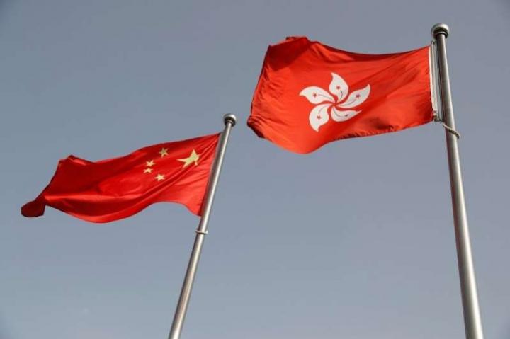 中港國旗。(圖:網絡圖片)