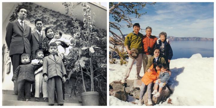 (左)1960年農曆新年(右)2000年美國火山湖旅行(圖:蔡春曦牧師 提供)