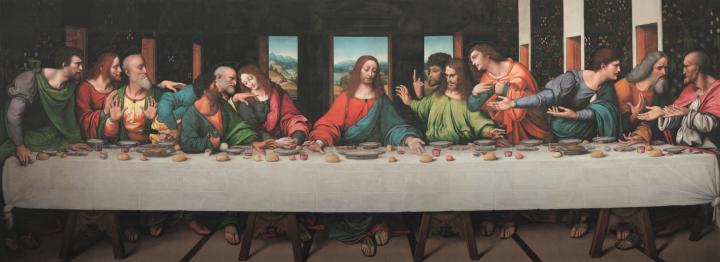 谷歌復修的《最後的晚餐》。(圖:Google Arts and Culture)