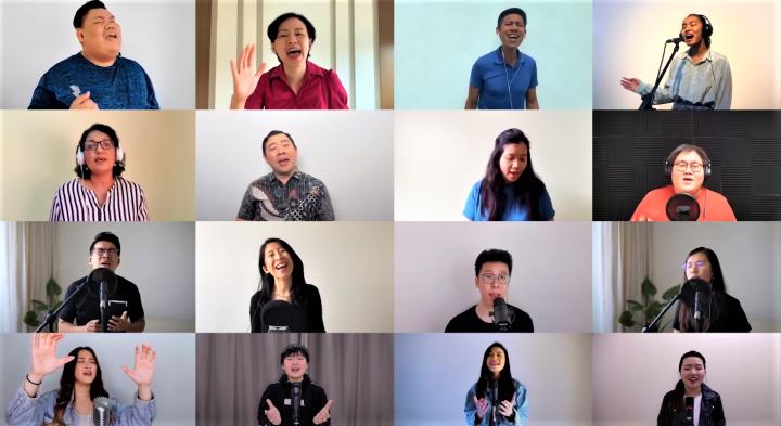 馬來西亞120歌手在網上合唱《祝福馬來西亞》。(圖:視頻擷圖)