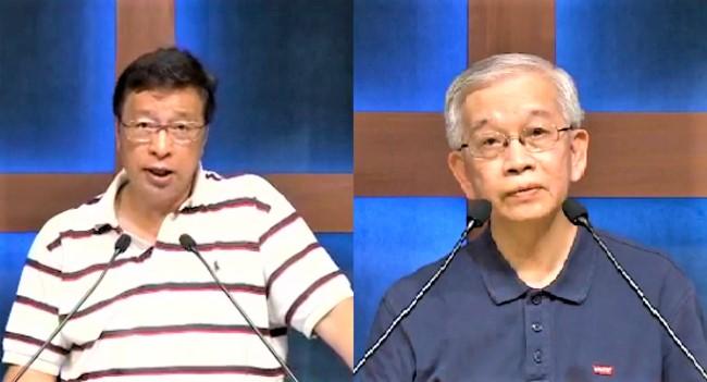 梁永善牧師[左]、羅慶才牧師[右]。(圖:香港教牧網絡視頻擷圖)