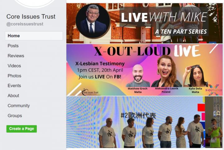 核心問題信託於臉書貼上走出同性戀的活動。(圖:核心問題信託臉書)