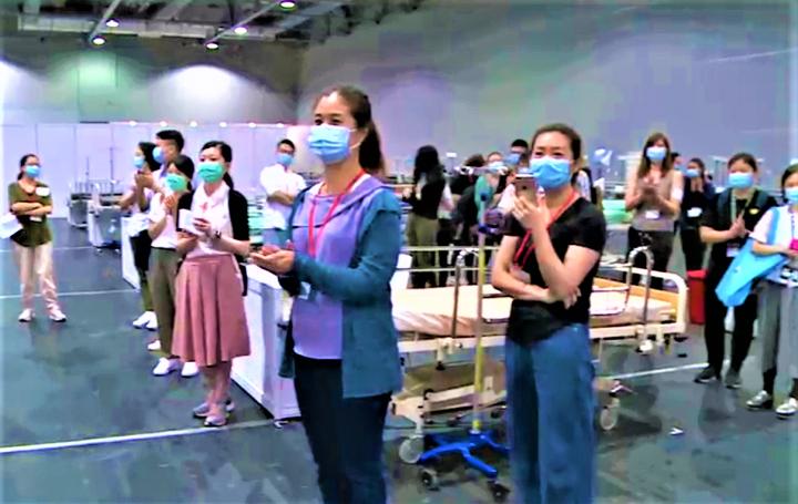 香港疫情告急,亞洲國際博覽館新增檢疫及社區治療設施應對。(圖:香港政府官網)