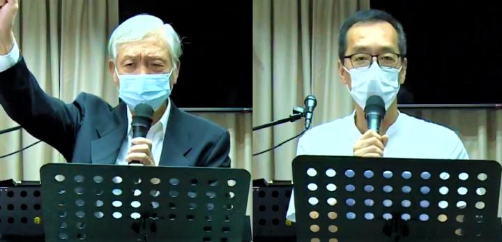 朱耀明[左]、馬保羅[右]。(圖:香港教牧網絡視頻)