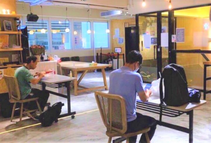 華恩堂開放中心給街坊午膳。(圖:華恩堂臉書)