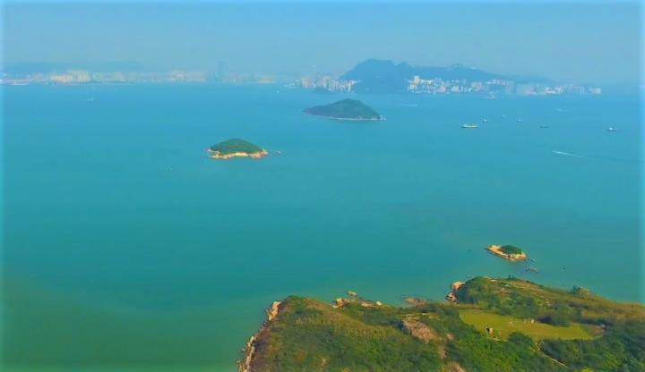 「明日大嶼」計劃於喜靈洲附近分階段填海1700公頃。(圖:網絡圖片)