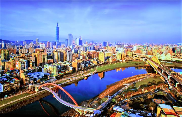台灣台北觀景。(圖:google map)