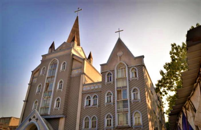 桂林市最大的天主教堂。(圖:Getty Images)
