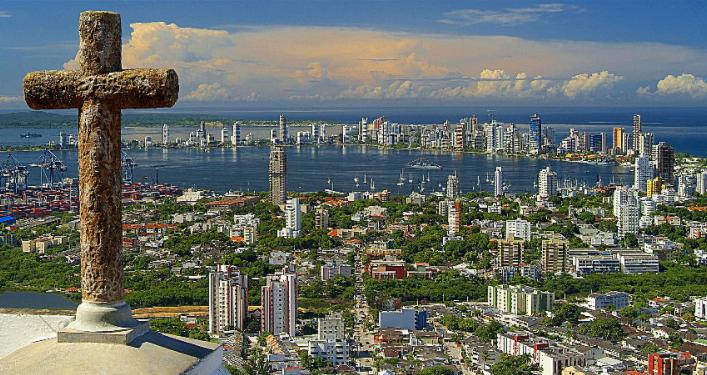 哥倫比亞卡塔赫納海港城市。(圖:網絡圖片)