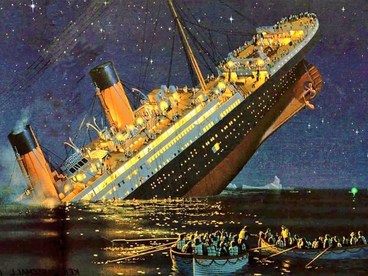 鐵達尼號1912年處女航撞冰山在大西洋北沉沒。(圖:網絡圖片)