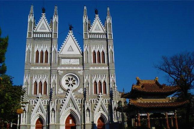 遭關閉的西什庫天主教堂。(圖:百度百科)