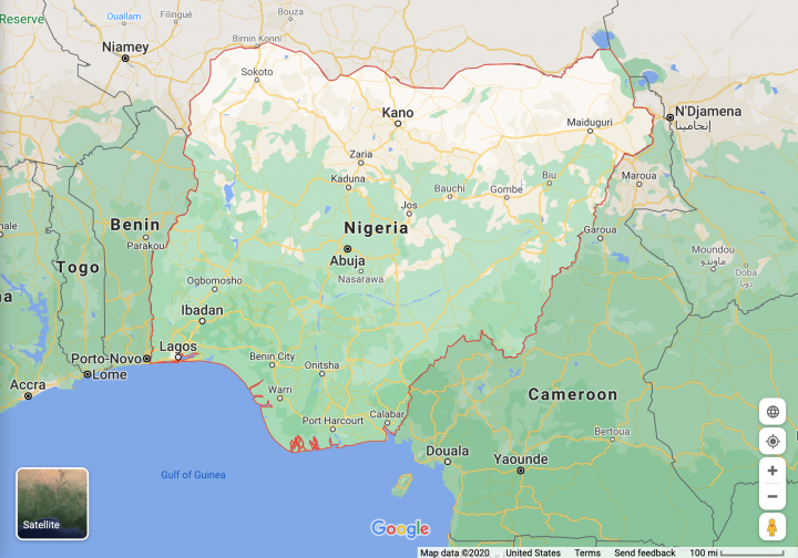 尼日利亞 (Google Map)