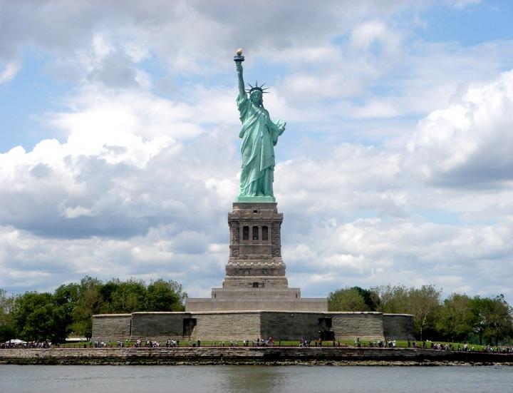 美國自由女神像。(圖:FreeImage)