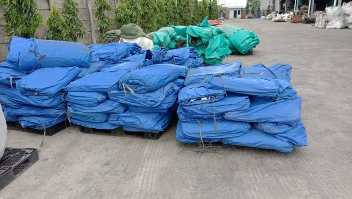 印尼歸正福音教會帳篷物資。(圖:印尼歸正福音教會臉書)