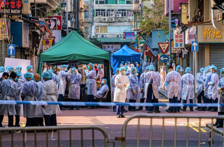 政府連日封鎖油麻地、佐敦區及街道進行檢疫。(圖:Flickr)