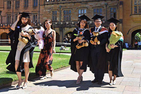2019年赴澳中國留學生人數為22.9萬人。(圖:網絡圖片)