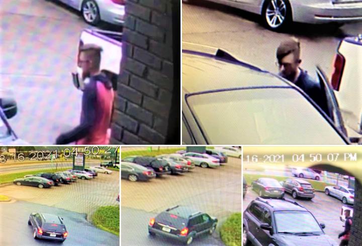 喬治亞州警察局發佈照片,疑兇亞倫於當晚8時取車情況。(圖: Crisp County Sheriffs Office facebook)