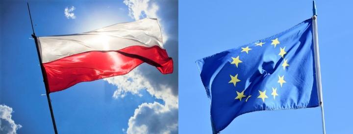 波蘭與歐盟國旗。(圖:組合圖)