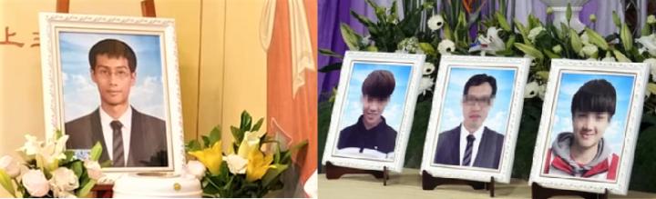 台鐵事故死者[左起]江沛峰、張恩翔、張信盛、張恩昀。(圖:臉書及網絡圖片)