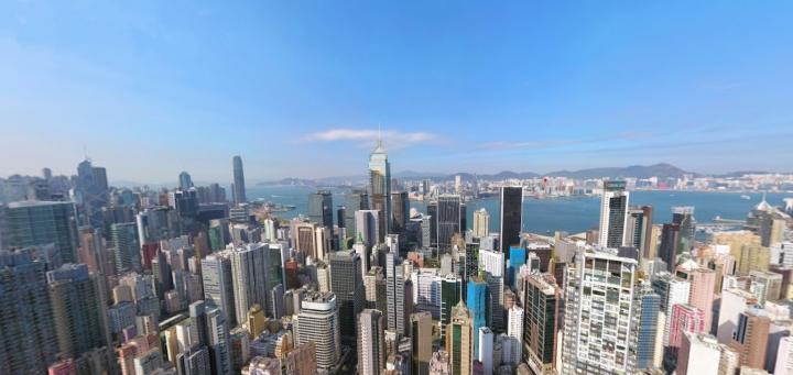 環境密集的香港。(圖:google map)