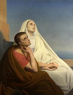 奧古斯丁與母親聖莫妮卡。(圖:維基百科)