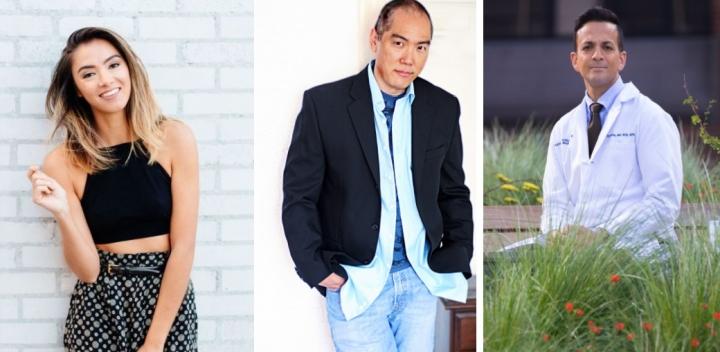 左起: Hollis Wong-Wear、 Yuji Okumoto、Vin Gupta。(圖:維基擷圖)