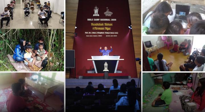 印尼歸正福音教會全國聖經營2020。(圖:YouTube擷圖)
