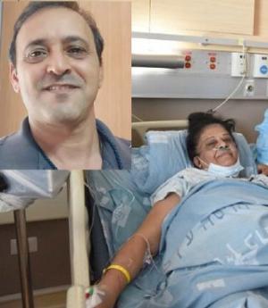 捐腎猶太男子[左上]與接受移植的阿拉伯婦人。(組合圖)
