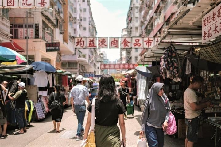 深水埗街市。(圖:Unsplash)